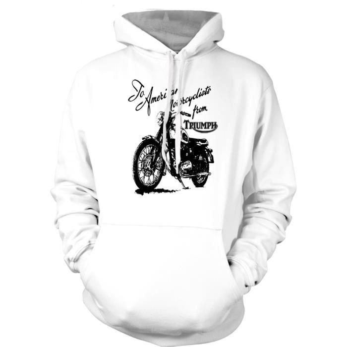 Triumph Motorcycle Art Hommes Hoodie Triumph Motorcycle Art Hommes
