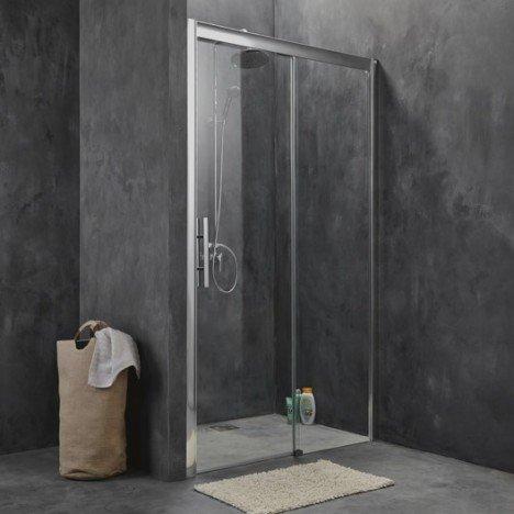 Porte de douche coulissante 137/141 cm profilé chromé, Adena | Leroy