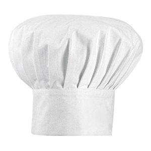 Toque de cuisinier adulte BLANC: Cuisine & Maison