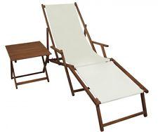 Chaise longue jaune Avec Pied Oreillers et Table Transat Pour jardin