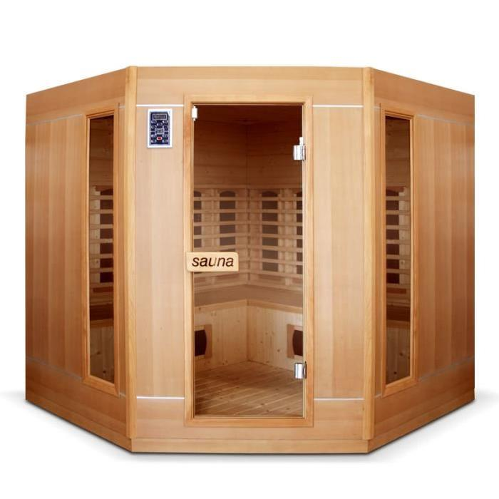 Sauna infrarouge 4 à 5 places Ethis grande Achat / Vente kit sauna