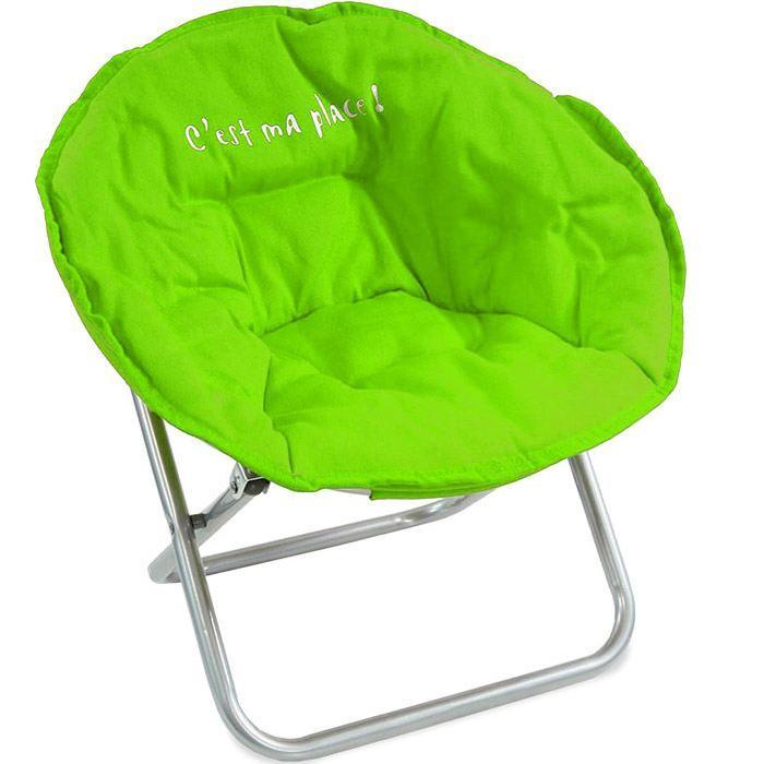 Fauteuil Enfant pliable vert Achat / Vente fauteuil Vert Soldes