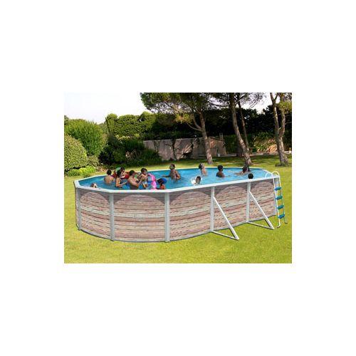 Toi VigiPiscine Kit piscine hors sol acier Pinus ovale décoration