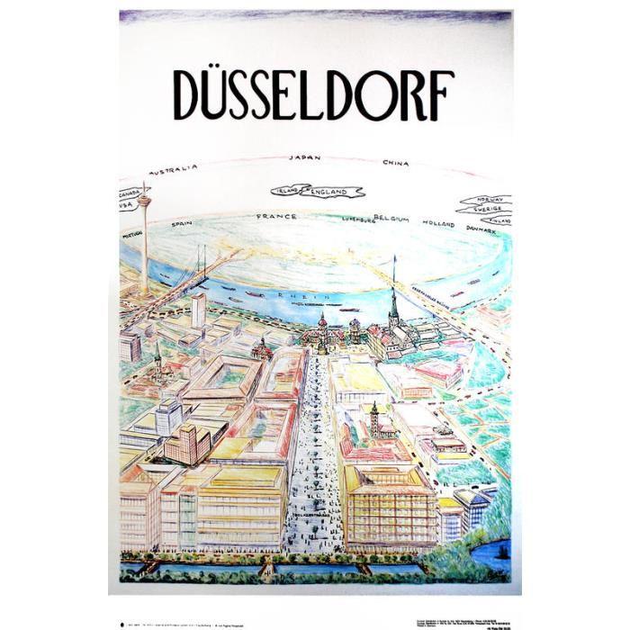 Poster Düsseldorf Achat / Vente Poster Düsseldorf Soldes