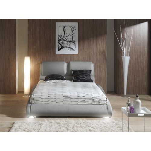 Modern Design Structure de lit gris clair led 160 pas cher Achat