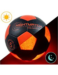 Ballon de football lumineux NightMatch, pompe à ballons incluse