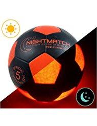 Ballon de football lumineux NightMatch, pompe à ballons incluse