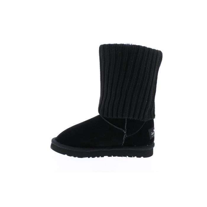 Bottes fourrées chaussette noir Zaza Pata Noir Achat / Vente botte