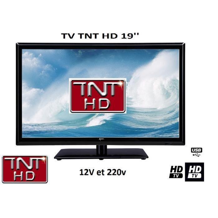 Télévision TV LED 19′ HD LED 12V /220V camping car Achat / Vente