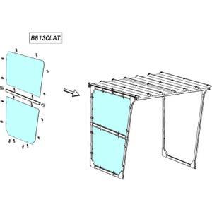 BARDAGE CLIN Bardage latéral droite ou gauche plexiglass 6mm Mo