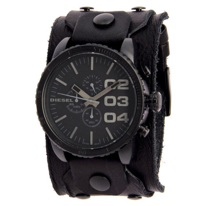 bracelet cuir noirFermoir par boucle ardillonÉtanche à? Voir la