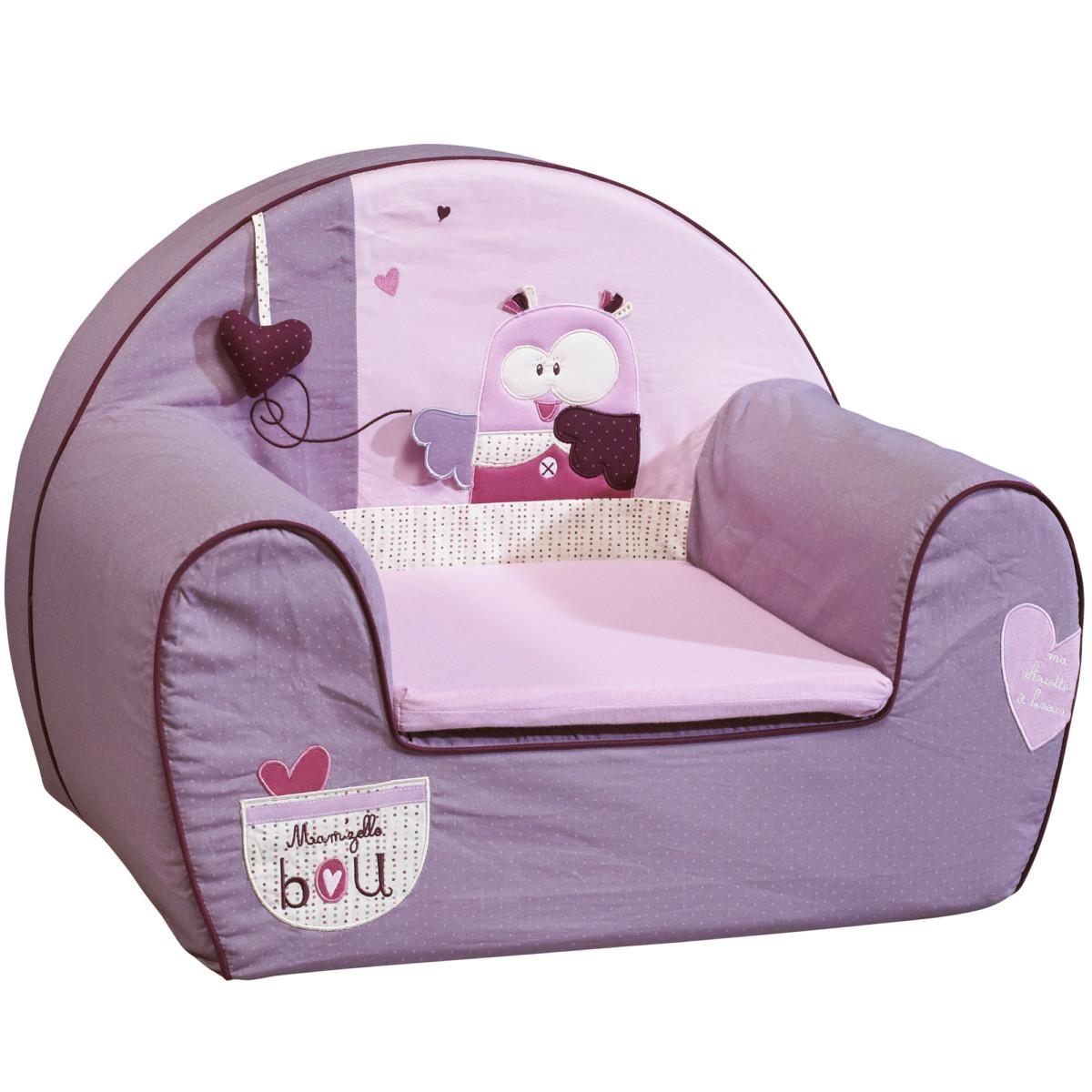 Mam'zelle Bou fauteuil club Violet de Sauthon Baby Déco, Fauteuils