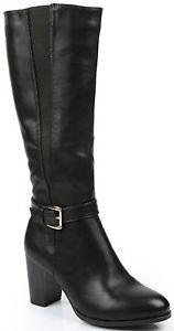 DERNIERE bottes femme noires noir gros mollets forts 36