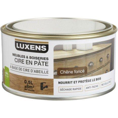 Cire en pâte meuble et objets LUXENS, 0.5 l, chêne foncé | Leroy