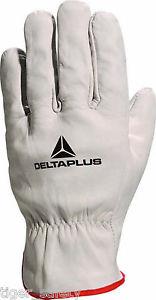 sur Delta plus venitex FBN49 cuir pleine fleur gris top qualité gants