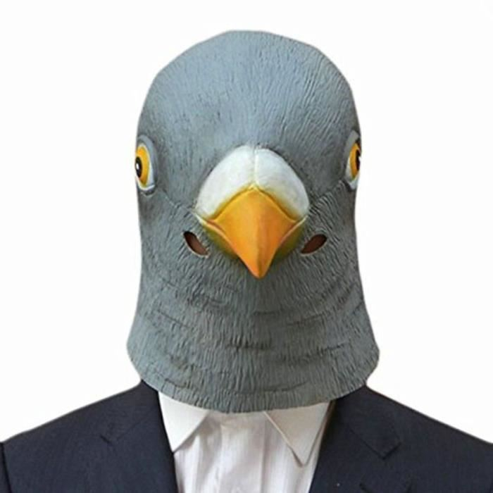 Nouveau Pigeon Masque Latex géant Bird Head Halloween Cosplay Costume