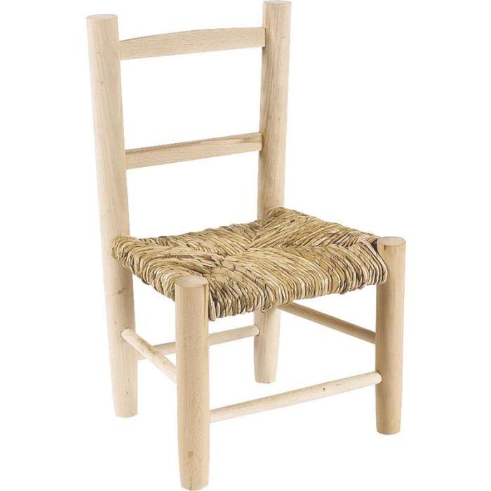 TABLE ET CHAISE Chaise enfant en bois brut