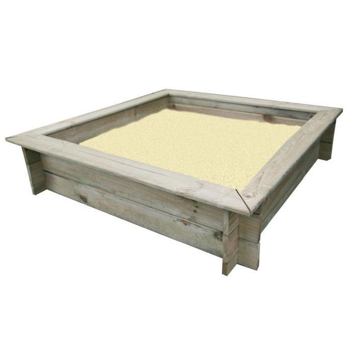 BAC A SABLE SAC DE SABLE Bac à sable carré 80cm en bois
