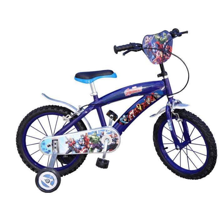 Vélo disney Avengers 16 pouces enfant Prix pas cher Soldes* d