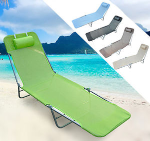CHAISE LONGUE PLIANTE BAIN DE SOLEIL INCLINABLE TRANSAT