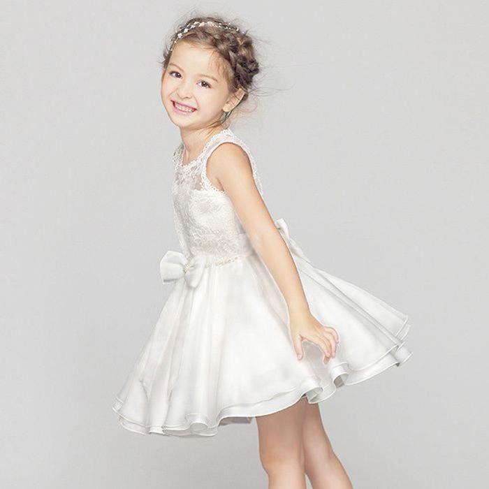 De Mariage Pour Enfant Co? Blanc Achat / Vente robe de cérémonie