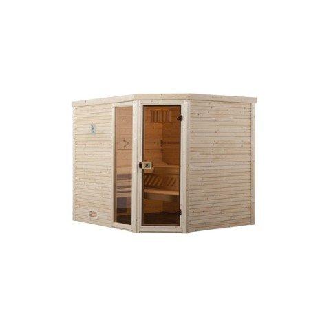 Sauna traditionnel 3 places, modèle Cubilis 2 OS WEKA