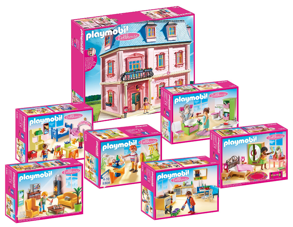Dollhouse la maison de ville topiwall for Playmobil cuisine 5329