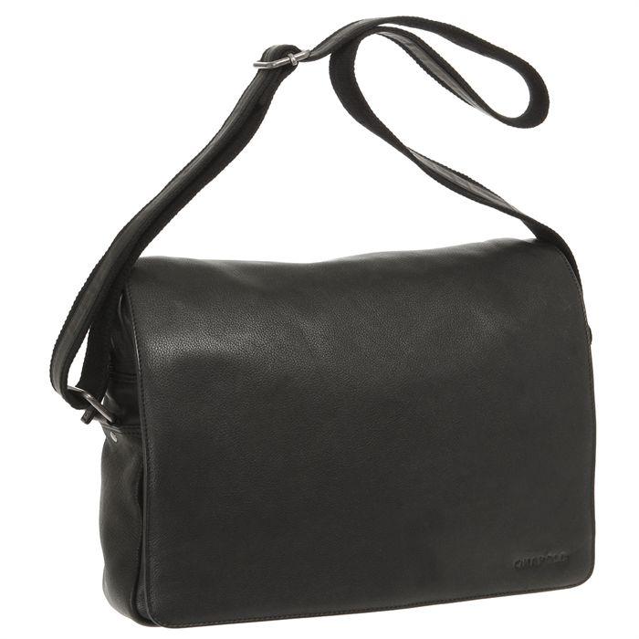 Sac bandoulière PIERRE Homme Noir Achat / Vente besace sac