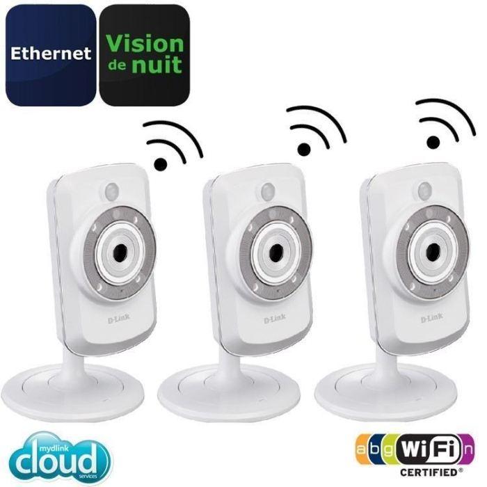 Link Caméra IP WiFi Cloud avec vision de nuit x3 Achat / Vente