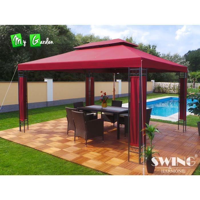 Pavillon de jardin MILANO Swing & Harmonie rectangulaire 4m x 3m de
