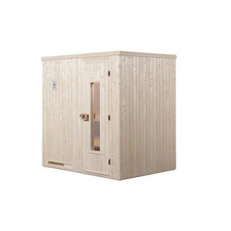 Sauna traditionnel 2 places, modèle Halmstad 1 WEKA, livraison