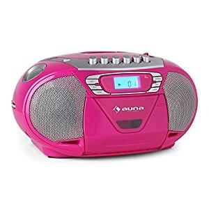 Auna KrissKross Poste radio cassette portable avec lecteur CD, deck
