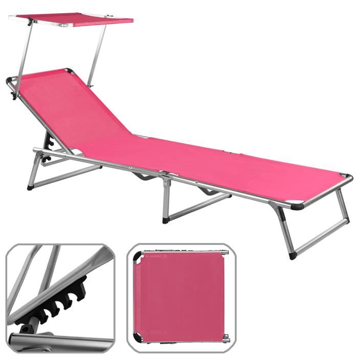 Chaise longue pliante topiwall for Chaise longue de plage pliante