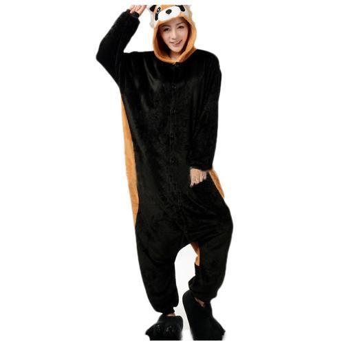 pyjama raton laveur à capuche et une queue super sympa et super doux