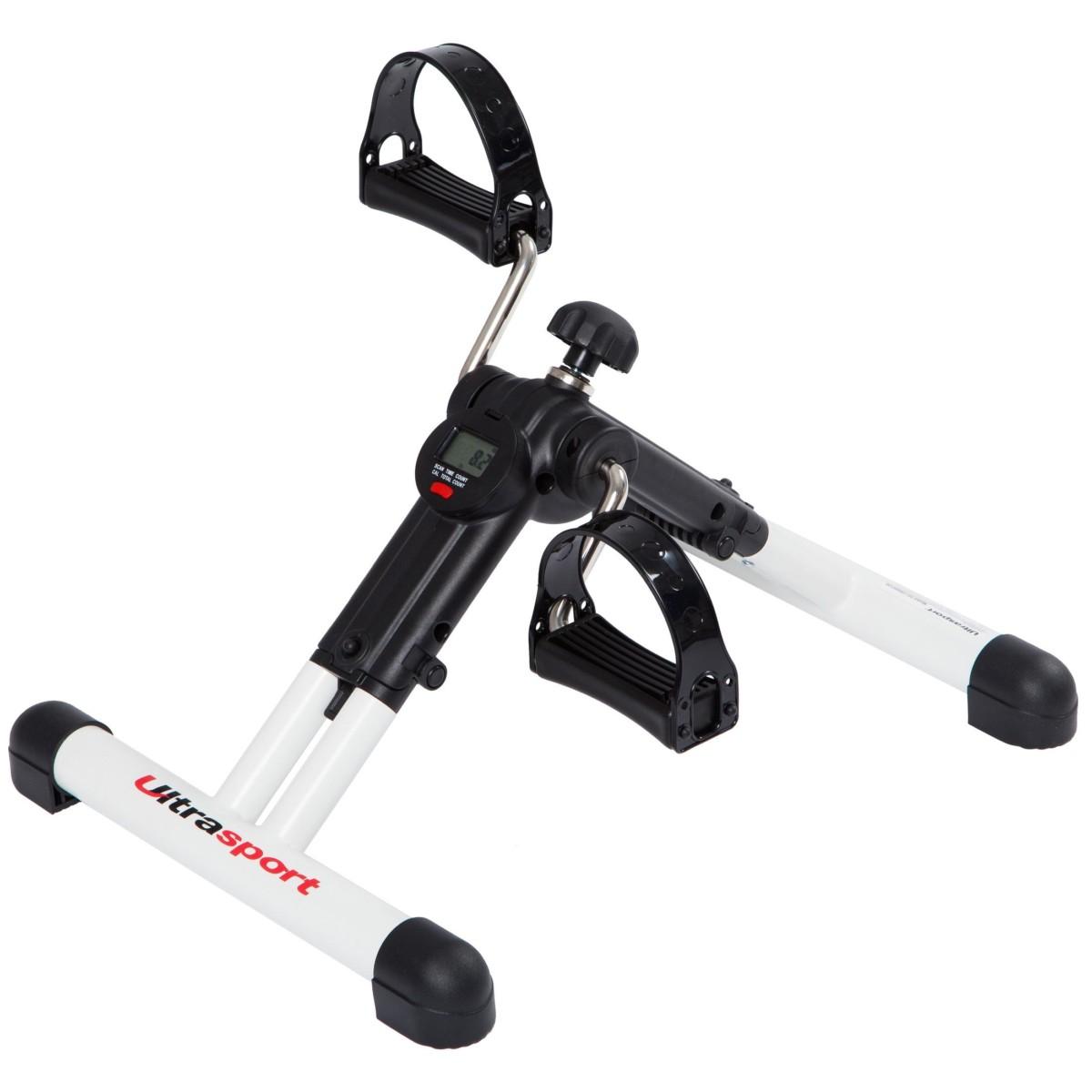 Ultrasport Mini Vélo d'appartement pour bras et jambes pliable avec