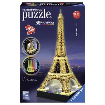 Puzzle 3D Tour Eiffel de nuit Ravensburger 216 pièces Puzzle 3D