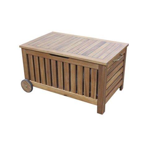 Banc 2 places de jardin en bois Porto brun |