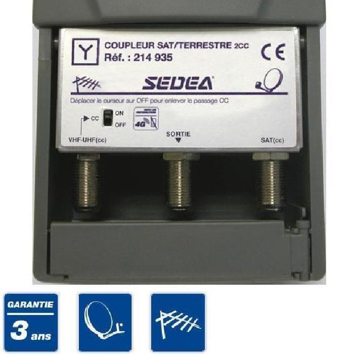 SEDEA Coupleur Decoupleur sat / TV repeteur de signal, avis et prix