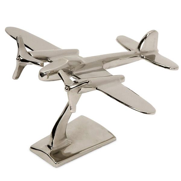 Objet Décoratif Avion à Hélice Métal