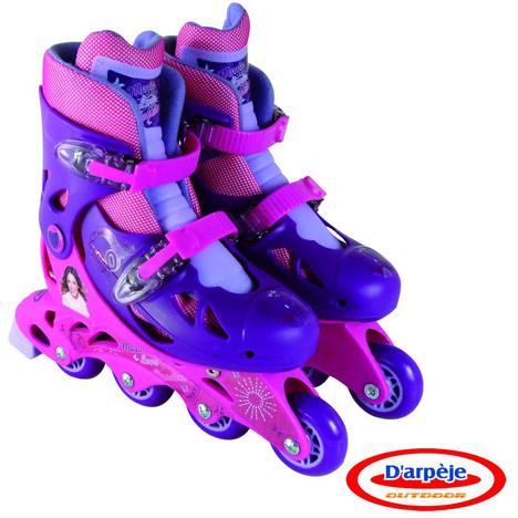 DARPEJE Rollers en ligne Violetta ajustables du 34 au 37 à prix