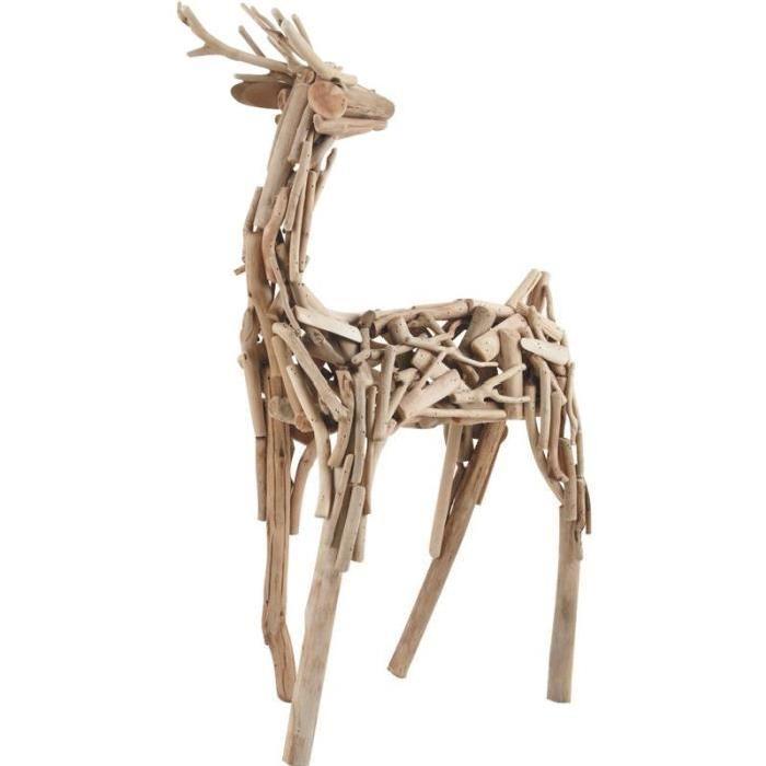 100% naturelle pour cette sculpture authentique fabriquée en branches