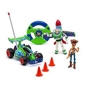 Disney Store Voiture te?le?commande?e Toy Story avec figurines