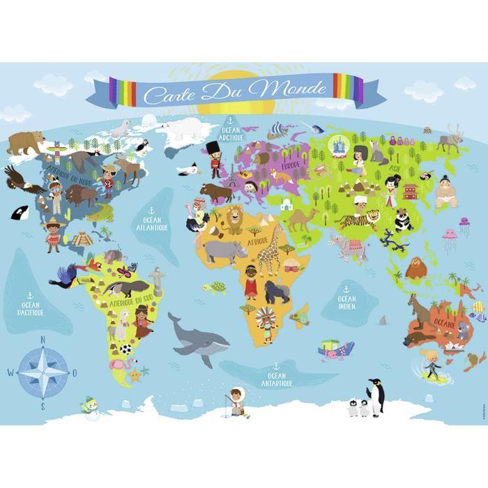 Puzzle 150 pièces : Carte du monde Achat / Vente puzzle