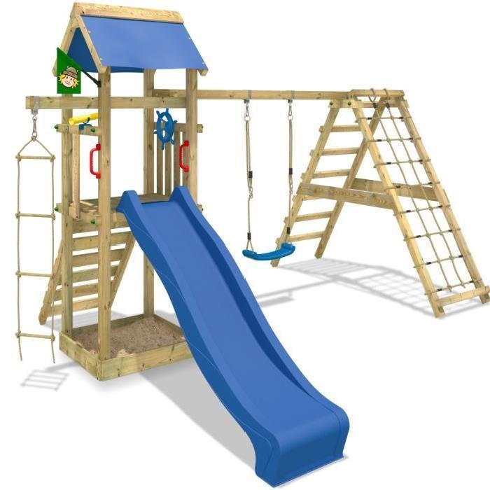 Aire de jeux Smart Park avec balançoire, toboggan 4250533938103