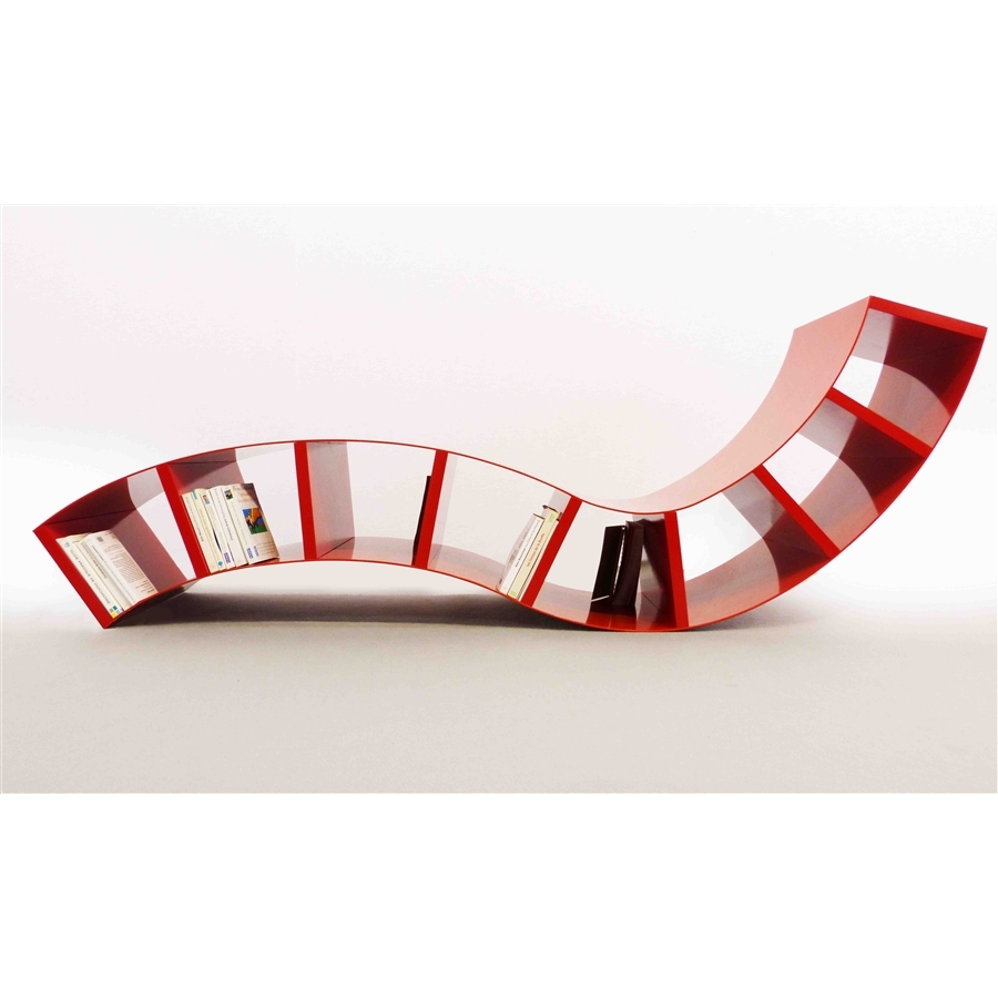 Chaise longue design BOABOOK rouge Thomas de Lussac