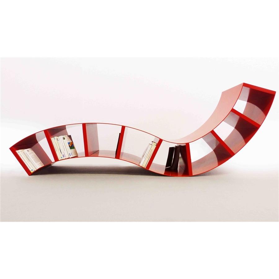 Chaise longue design BOABOOK rouge Thomas de Lussac