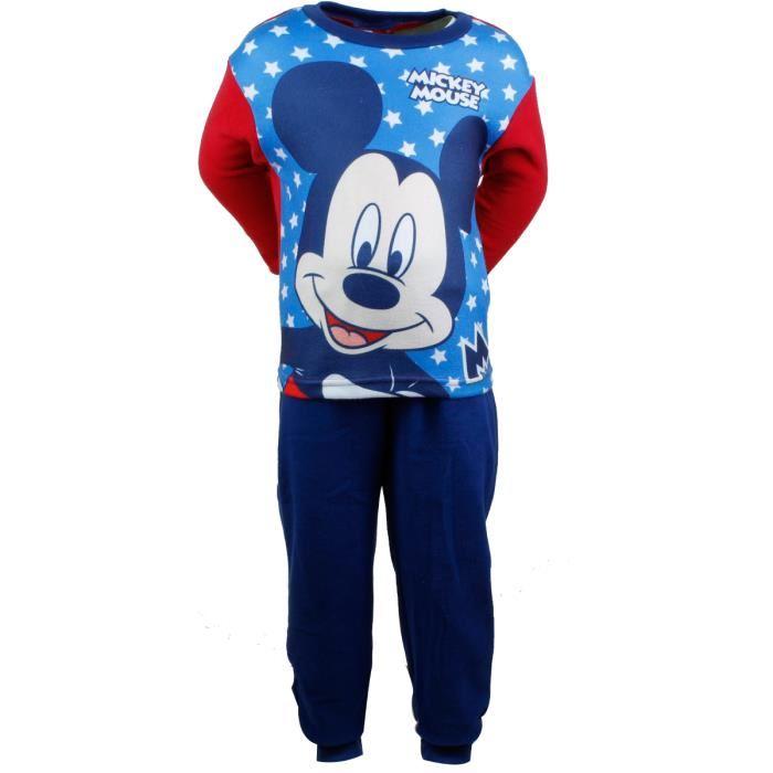 Pyjama polaire Mickey garçon Rouge Bleu Achat / Vente pyjama