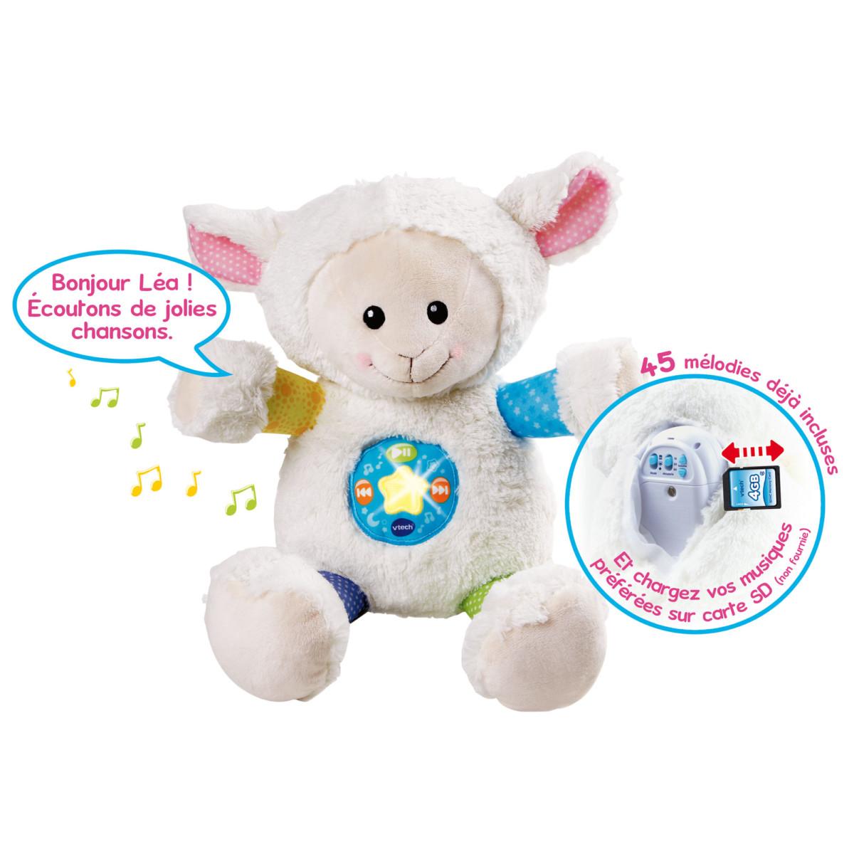 Mon mouton 1001 chansons Blanc de Vtech, Peluches musicales : Aubert