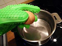 Paire de gants de cuisine anti chaleur en silicone de haute qualité