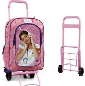 Violetta Trolley Sac Cartable a Roulettes Disney Licence 41 x 27cm Sac